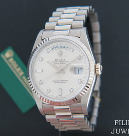Rolex  Day-Date White Gold Silver Diamond Dial 18239