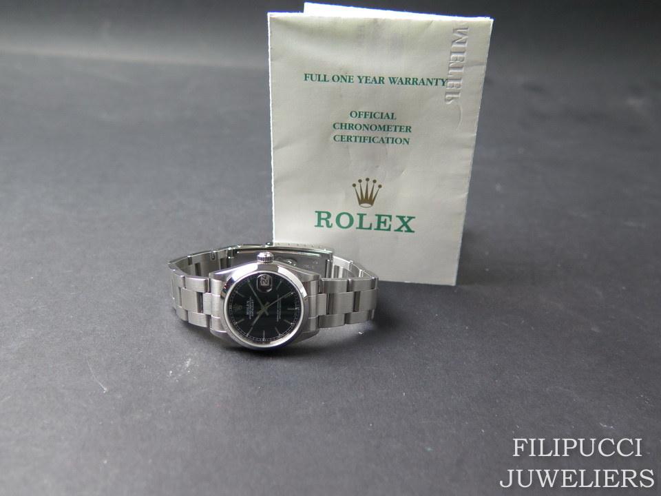 Rolex  Rolex Datejust Midsize 31mm  Black Dial 68240