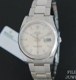 Rolex  Date Silver Dial 115200 NEW IN STICKERS