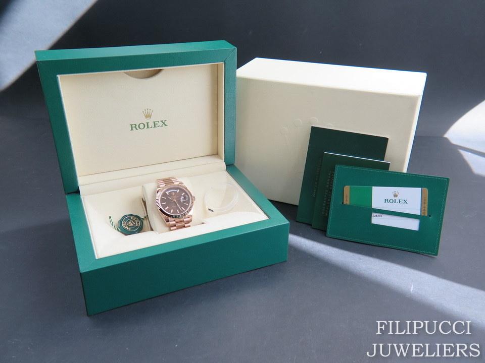 Rolex  Rolex Day-Date Everose Choco Dial 228235 NEW