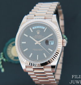 Rolex  Day-Date Everose Choco Dial 228235 NEW