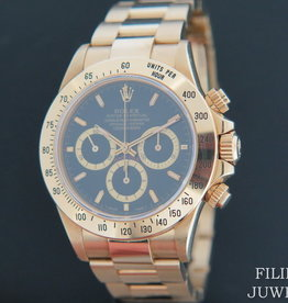 Rolex  Daytona Yellow Gold Black Dial 16528 Inverted Six