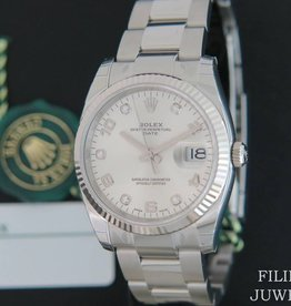 Rolex  Date Diamonds NEW 115234