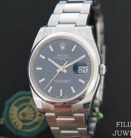 Rolex  Date NEW 115200 Blue Dial