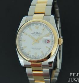 Rolex  Datejust Gold/Steel White Dial 116203