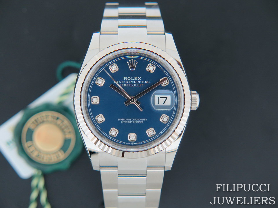 Rolex  Rolex Datejust 126234 Blue Diamond Dial NEW MODEL