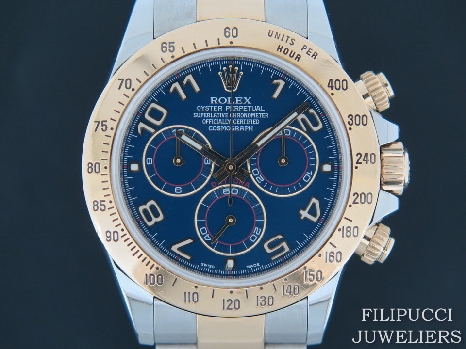 Rolex  Rolex Daytona Gold/Steel 116523 Blue Racing Dial