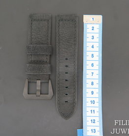 Panerai Calfskin Leather Strap 24 MM with ceramic buckle