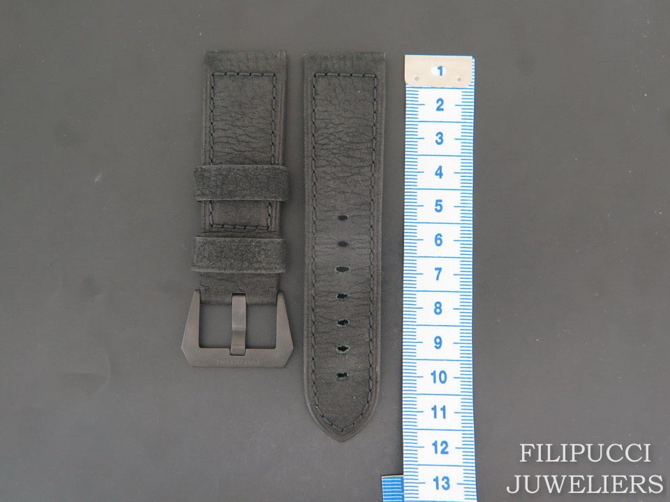 Panerai Panerai Calfskin Leather Strap 24 MM with ceramic buckle