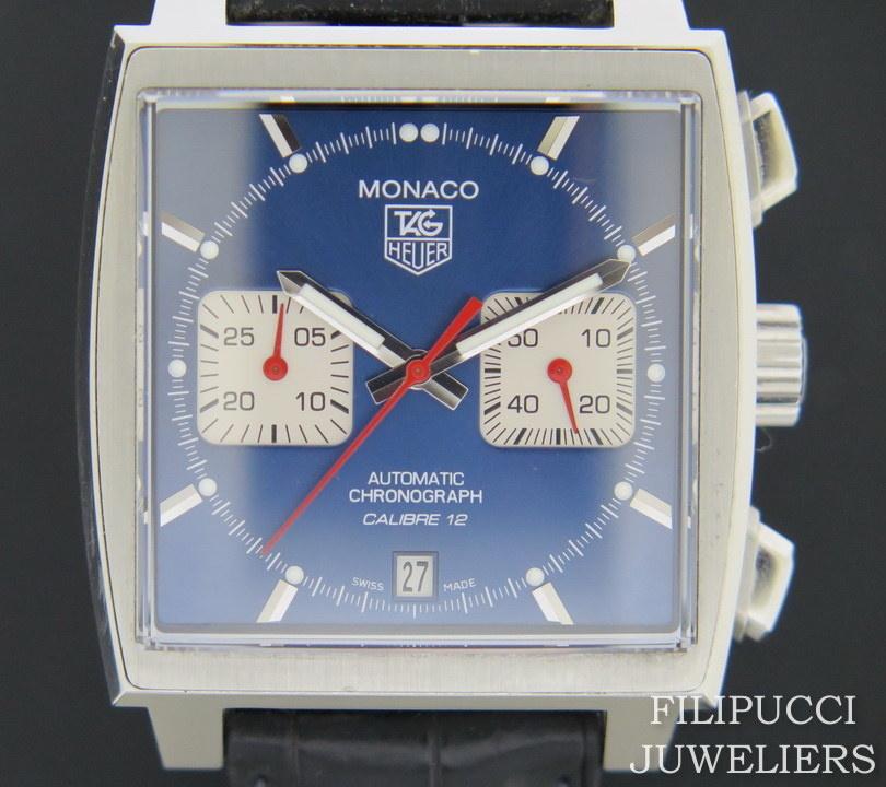 "Tag Heuer Tag Heuer Monaco ""Steve McQueen"" Blue Dial CAW2111-0"