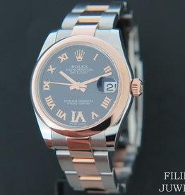 Rolex  Datejust Rosegold / Steel Purple VI Diamond Dial 178241