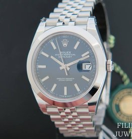 Rolex  Datejust 41 Blue Dial NEW 126300