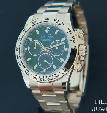Rolex  Daytona Yellow Gold 116508  Green Dial NEW