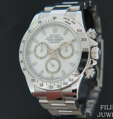 Rolex  Daytona White Dial 116520  M-Serial