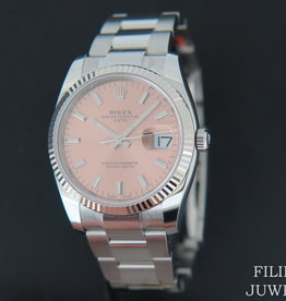 Rolex  Date Pink Dial 115234 NEW