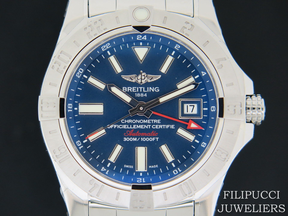 Breitling Breitling Avenger II GMT Blue Dial NEW A32390