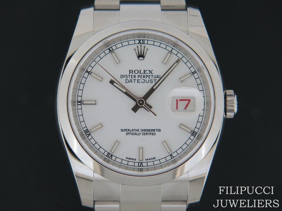 Rolex  Rolex Datejust White Dial NEW 116200