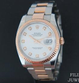 Rolex  Datejust Everosegold/Steel White Diamond Dial 116231