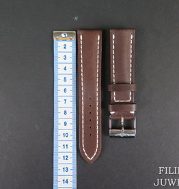 Breitling Brown Leather Strap 22-20MM with buckle NEW
