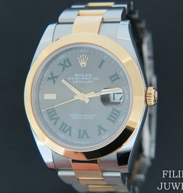 Rolex  Datejust 41 Gold/Steel Slate Dial NEW 126303