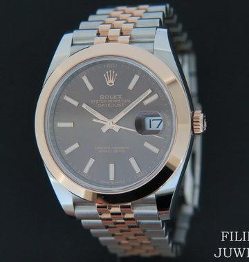 Rolex  Datejust 41 Everosegold/Steel Choco Dial NEW 126301