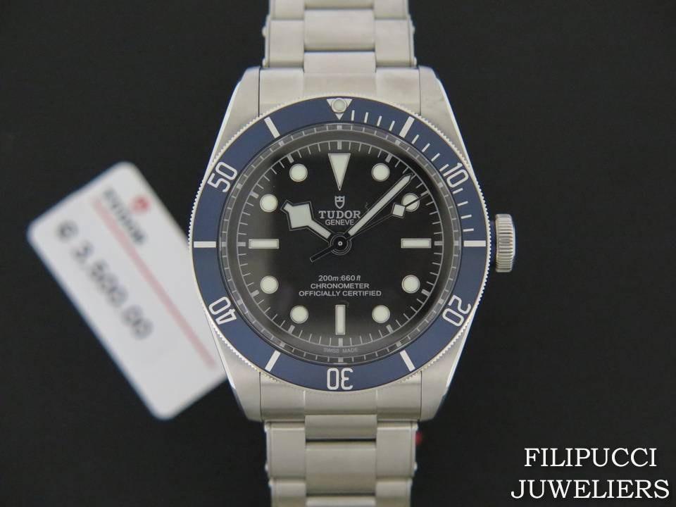 Tudor Tudor Heritage Black Bay Blue NEW 79230B