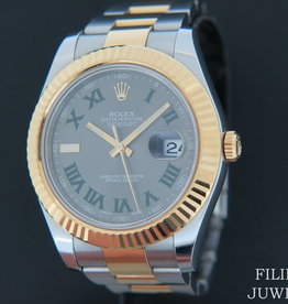Rolex  Datejust II Gold/Steel Wimbledon Dial 116333