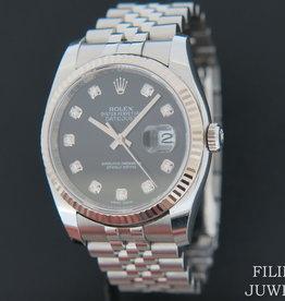 Rolex  Datejust Black Diamond Dial 116234