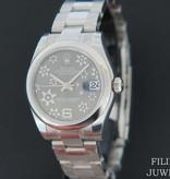 Rolex  Rolex Datejust Grey Floral Dial NEW 178240