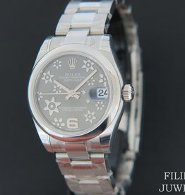 Rolex  Datejust Grey Floral Dial NEW 178240