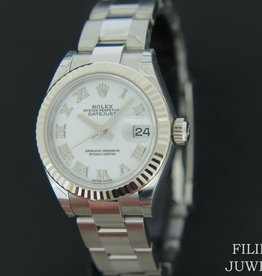 Rolex  Datejust Lady 28mm White Roman Dial NEW 279174