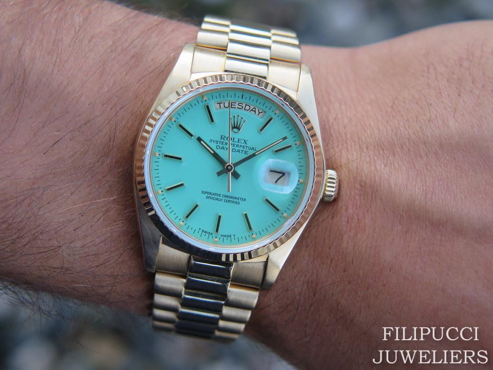 """Rolex  Rolex Day-Date 18038 ''Stella Dial"""""""