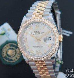 Rolex  Datejust NEW 126283RBR Gold/Steel Silver Diamond Dial  NEW