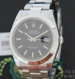 Rolex  Datejust 41 Black Dial 126300 NEW