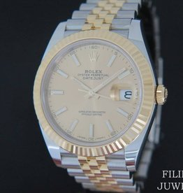 Rolex  Datejust 41 Gold/Steel Champagne Dial 126333