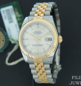 Rolex  Datejust Gold/Steel Silver Dial 178273 NEW