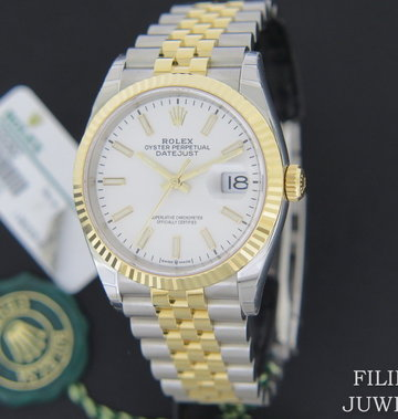 Rolex  Datejust 126233 Gold/Steel White Dial  NEW
