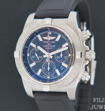 Breitling Chronomat 44 Black Dial NEW AB011010 ''FLYING FISH''