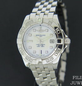 Breitling Galactic 32 MOP Diamond Dial A71356L2 NEW