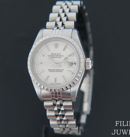 Rolex  Datejust Lady 26mm Silver Tapestry Dial