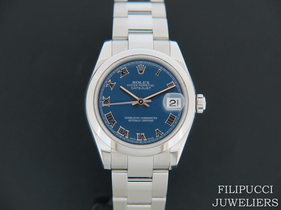 Rolex  Rolex Datejust Blue Roman Dial 178240