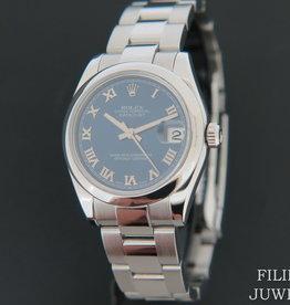 Rolex  Datejust Blue Roman Dial 178240