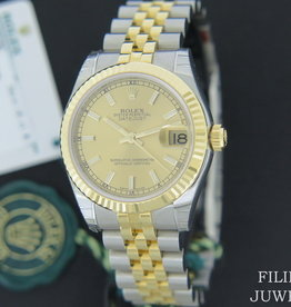 Rolex  Datejust Gold/Steel Champagne Dial  178273 NEW