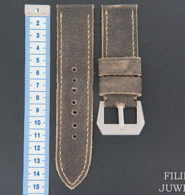 Panerai Vintage-style Calfskin Leather Strap 27 MM with Buckle