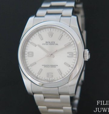 Rolex  Oyster Perpetual Silver Dial 116000