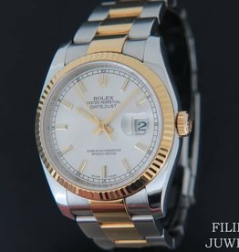 Rolex  Datejust Gold/Steel Silver Dial 116233