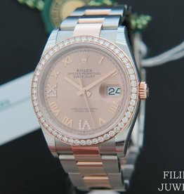 Rolex  Datejust NEW 126281RBR Everose/Steel Rose Diamond Dial  NEW