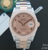 Rolex  Rolex Datejust NEW 126281RBR Everose/Steel Rose Diamond Dial NEW