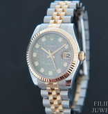 Rolex  Rolex Datejust Gold/Steel Black MOP Diamond Dial 178273