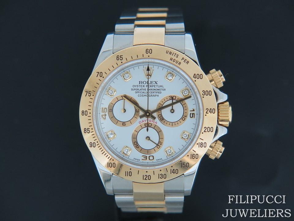 Rolex  Rolex Daytona White Diamond Dial 116523
